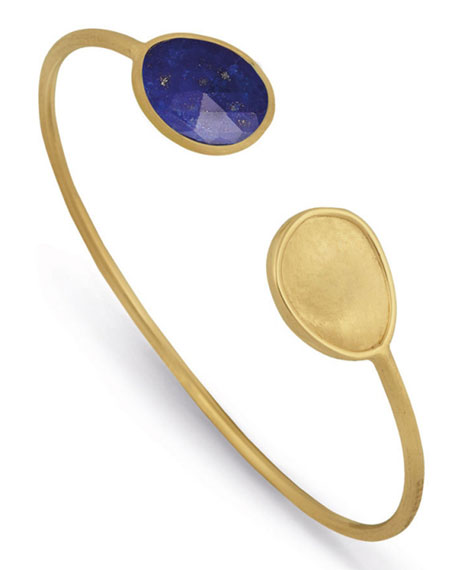 Lunaria Lapis Crossover Bangle Bracelet