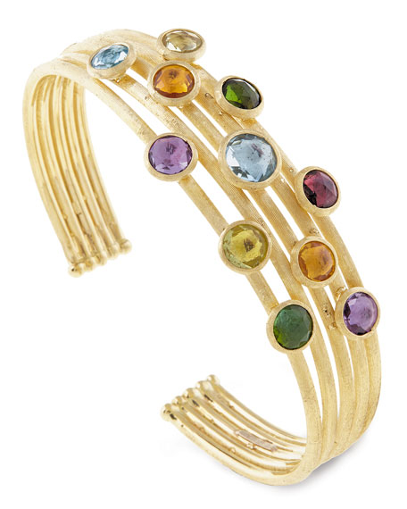 Marco Bicego Jaipur Five-Row Mixed Stone Bangle Bracelet BjDTPAhAAs