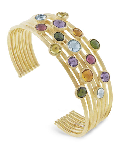 Jaipur Mixed Stone Seven-Row Bangle Bracelet