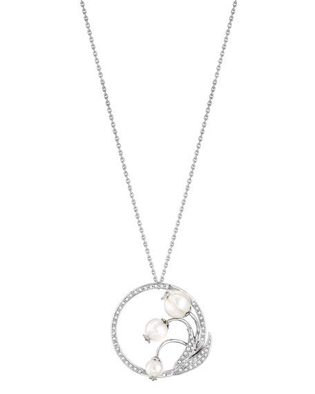 Muguet Pearl & Diamond Pendant Necklace