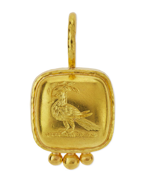Elizabeth Locke 19K Gold Dove on Branch Venetian