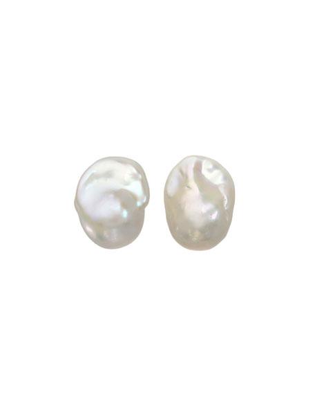 Baroque Pearl Stud Earrings