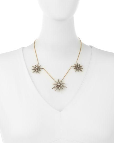 14K Triple-Star Diamond Necklace
