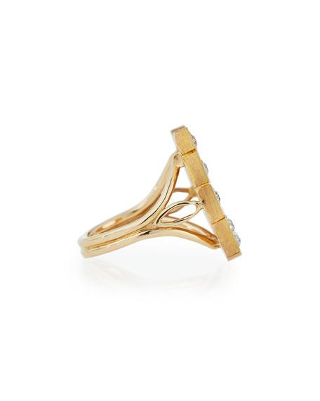 14K Gold Horseshoe Ring with Diamonds