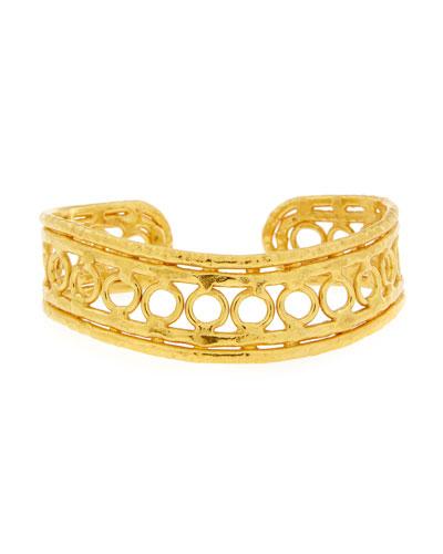 Ronds 22K Gold Cuff Bracelet