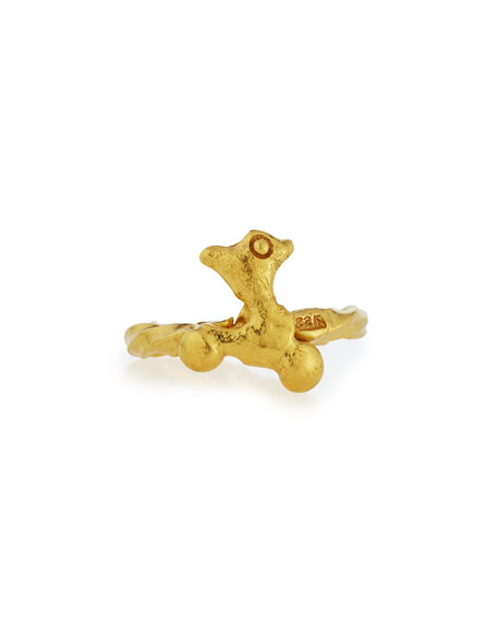 Abstract 22K Gold Ring