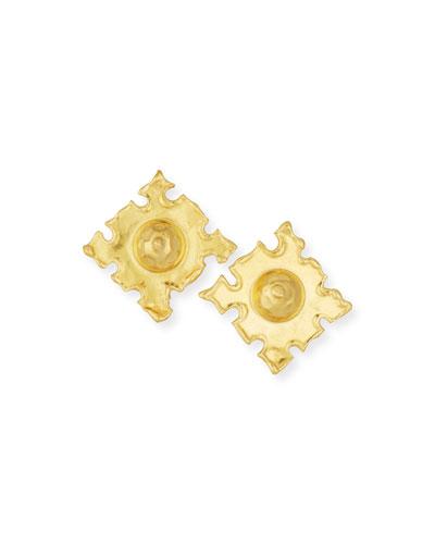 Cardinals 22K Gold Earrings