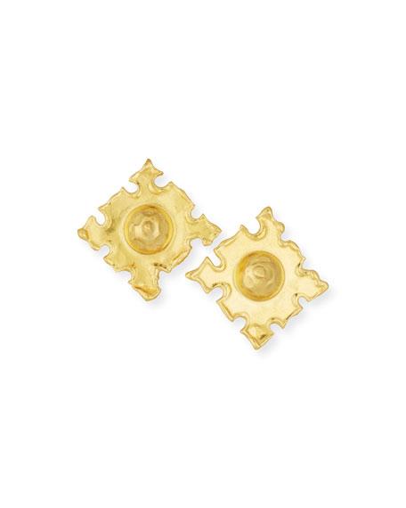 Jean Mahie Cardinals 22K Gold Earrings qdEfbi83HM