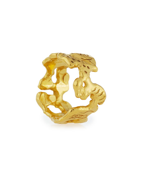 Mahie Forever 22K Gold Carved Ring