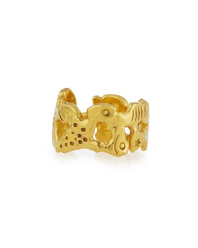 Mahie Forever 22K Gold Carved Ring