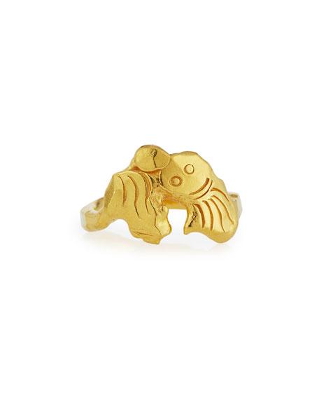 Jean Mahie 22K Gold Mini Monster Ring