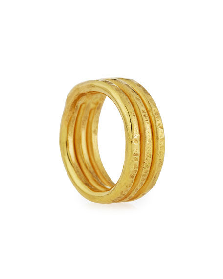 22K Gold Stacked Trio Ring