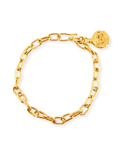 Cadene 22K Gold Link Bracelet, 8