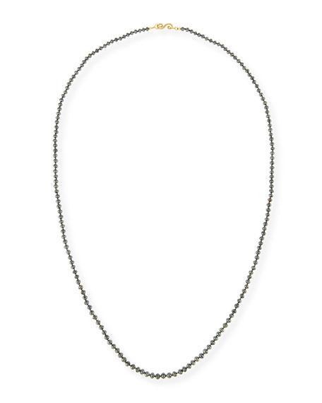 Splendid Faceted Round Black Diamond Necklace, 32