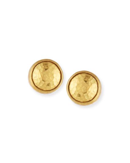 Small 24K Gold Amulet Earrings