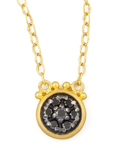 Moonstruck 24k Black Diamond Pendant Necklace