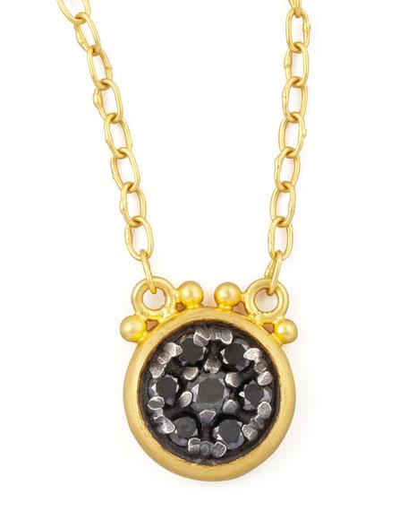 Moonstruck 24k Black Diamond Pendant Necklace