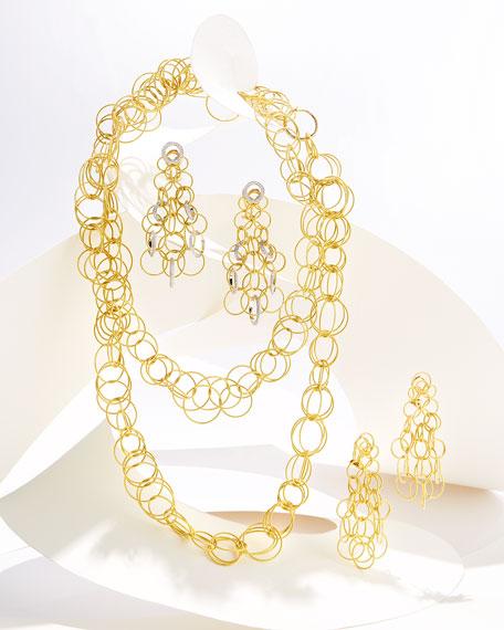 18K Gold Hawaii Circle Earrings with Diamonds