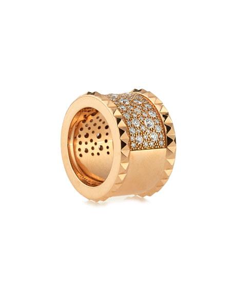 ROBERTO COIN ROCK & DIAMONDS 18K Yellow Gold Ring, Size 6.5