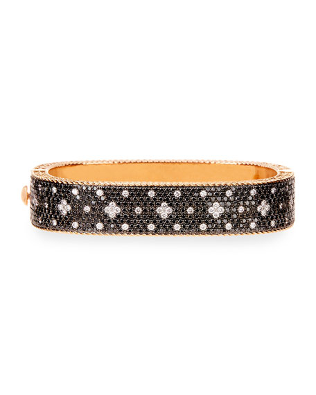 Venetian Princess 18K Rose Gold & Black Diamond Bangle