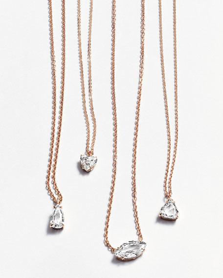 Rose-Cut Diamond Pendant Necklace in 18K Rose Gold, 0.81ct