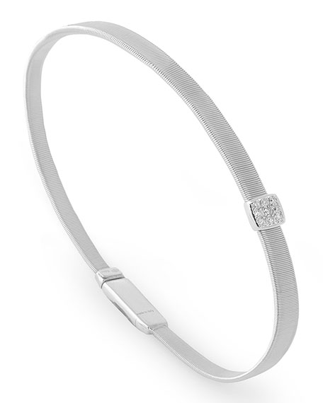 Masai 18K White Gold Bracelet with Diamond Station