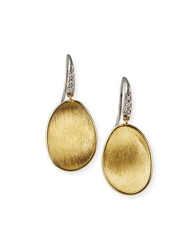 Lunaria Drop Earrings with Diamonds