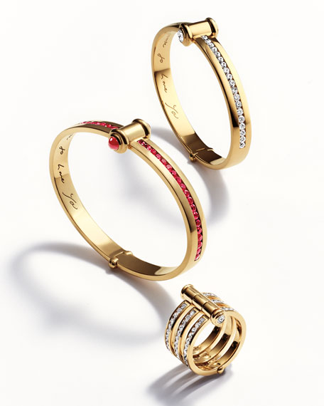 Stephen Webster 18K Yellow Gold I Promise to Love You Bangle with Rubies YxXgJKi2