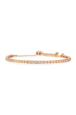 Cassidy Diamonds 18K Rose Gold Square Diamond Bracelet