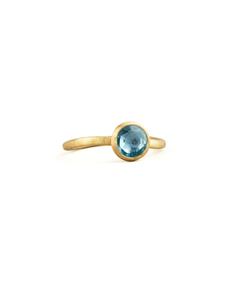 Small Jaipur Ring in Blue Topaz, Size 6