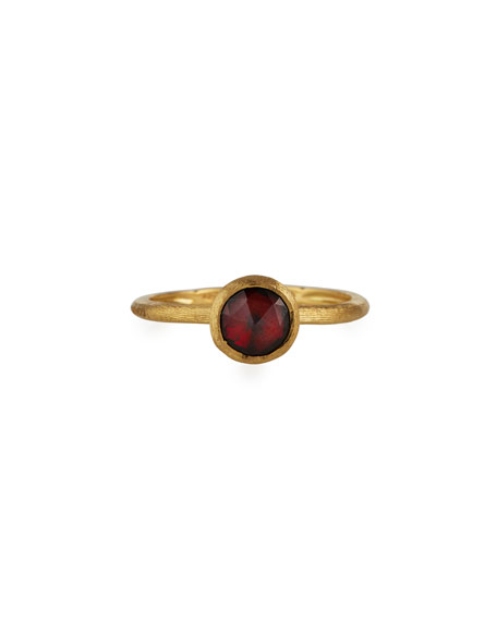 Jaipur Garnet Stackable Ring, Size 7