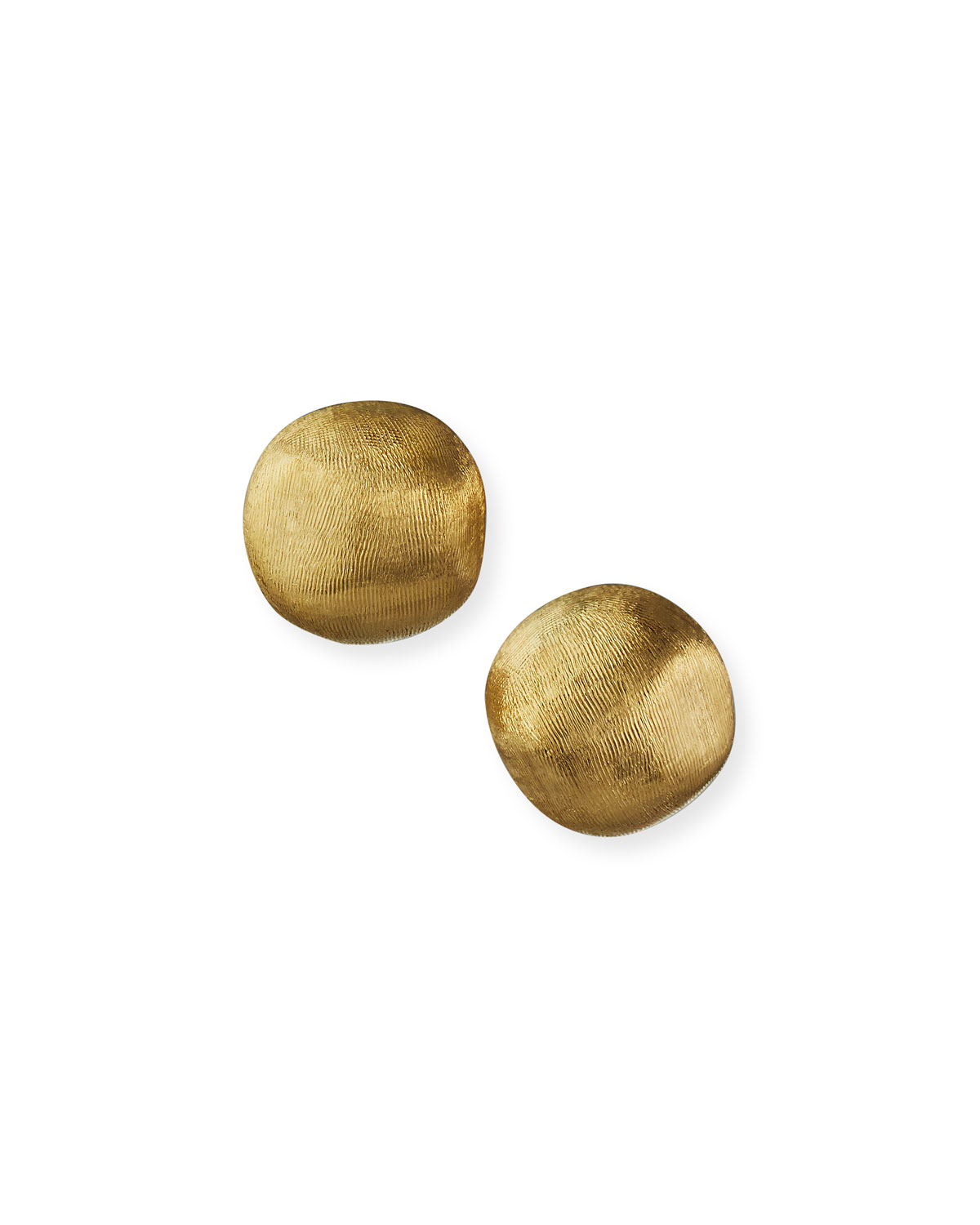 Textured Gold Stud Earrings Small