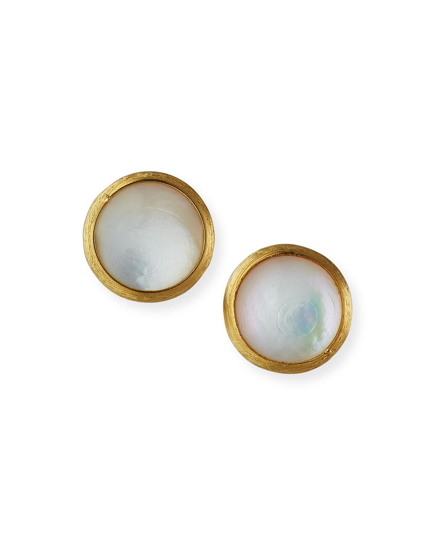 Jaipur Mother Of Pearl Stud Earrings