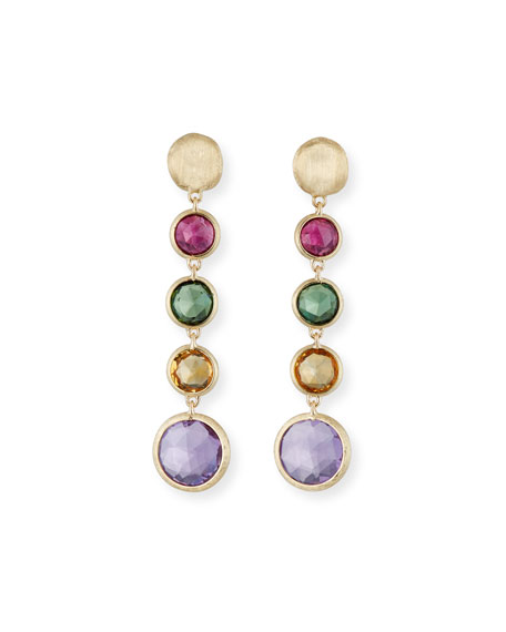 Marco Bicego Jaipur 18K Gold Mixed Semiprecious Stone Drop Earrings 9OiL3Wddn3