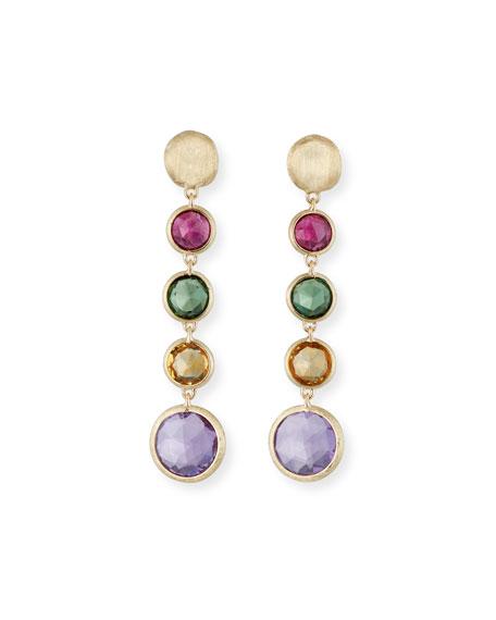 Jaipur 18K Gold Mixed Semiprecious Stone Drop Earrings