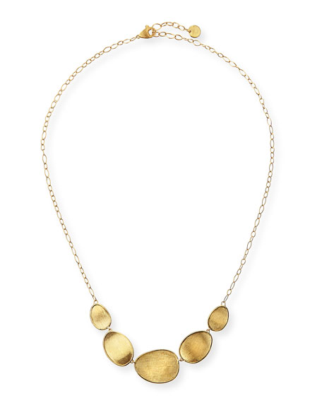 18k Gold Stone Bib Necklace