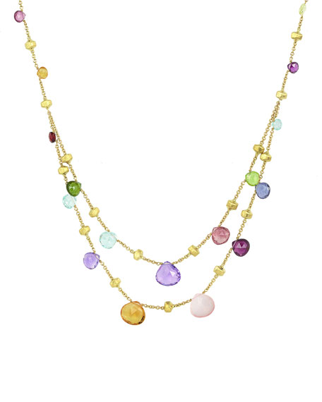 Marco Bicego Paradise 2-Strand Mixed Stone Necklace
