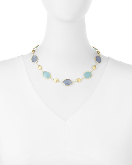 Siviglia Resort Aquamarine & Chalcedony Necklace