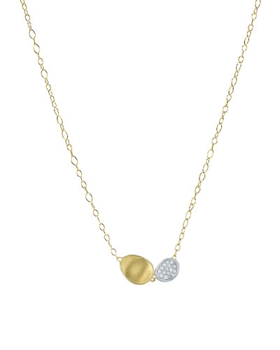 Lunaria Two-Pendant Diamond Necklace