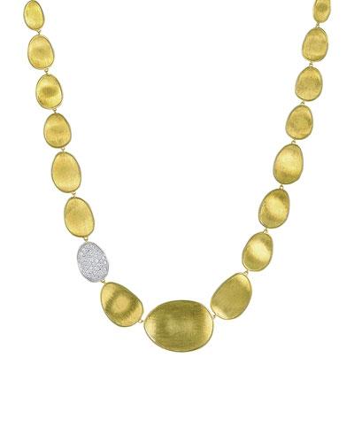Lunaria Diamond & 18k Gold Collar Necklace