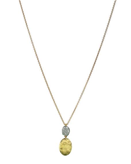 Marco bicego siviglia 18k gold pav diamond pendant necklace siviglia 18k gold pav diamond pendant necklace aloadofball Images