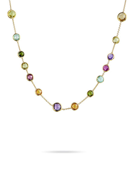 Jaipur 18K Gold Mixed Semiprecious Stone Necklace, 17""