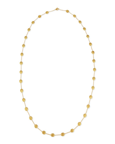 "Siviglia 18k Gold Long Station Necklace, 36""L"