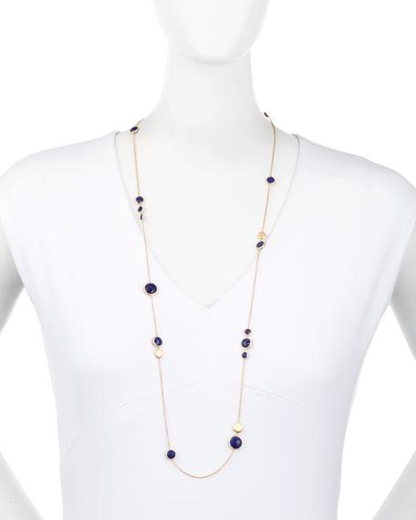 "Jaipur Lapis Layered Necklace, 36"""