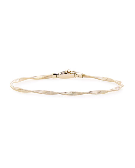 Marrakech 18k Gold Twisted Bangle Bracelet