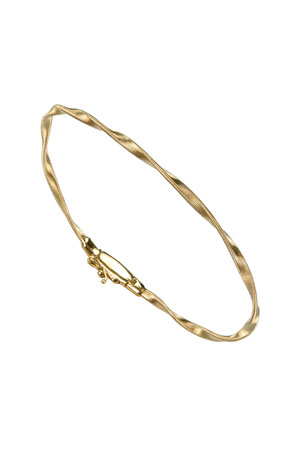 Marco Bicego Marrakech 18k Gold Twisted Bangle Bracelet
