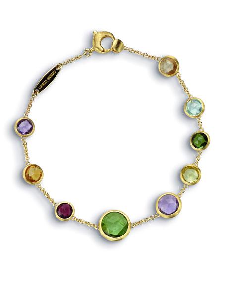 "Jaipur 18K Gold Mixed Semiprecious Stone Bracelet, 7"""