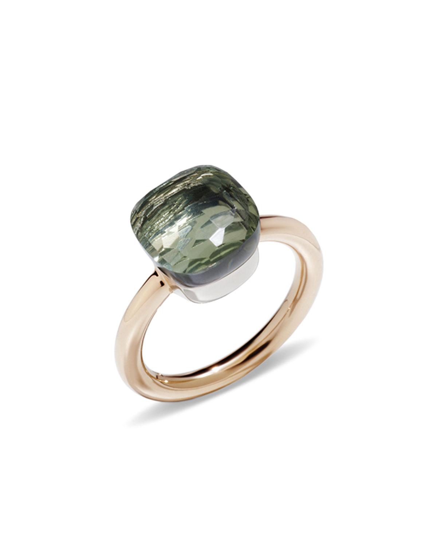 POMELLATO Nudo Rose Gold & Prasiolite Grande Ring, Size 53