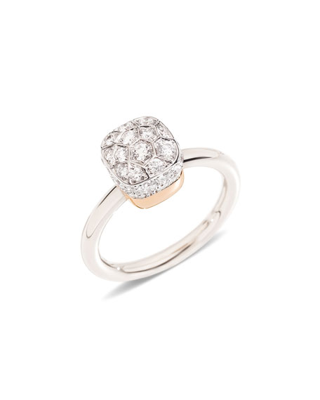 Nudo Rhodium-Plated Diamond Ring, Size 54