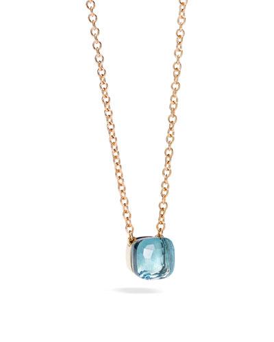 Nudo Blue Topaz Pendant Necklace